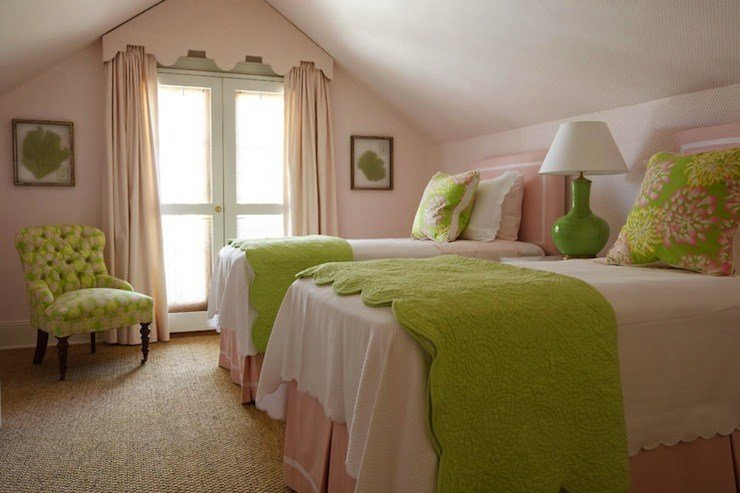 Best Pink And Green Girl S Bedding Traditional Girl S Room Phoebe Howard With Pictures