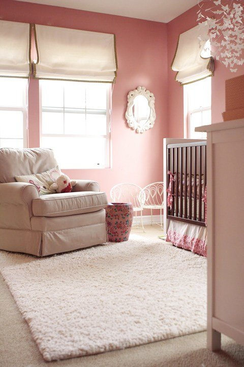 Best Pink Wall Paint Transitional Nursery Sherwin With Pictures