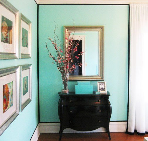 Best Tiffany Blue Paint Color Transitional Bedroom With Pictures