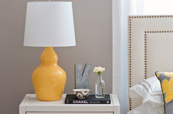Best Yellow Lamp Contemporary Bedroom Benjamin Moore With Pictures