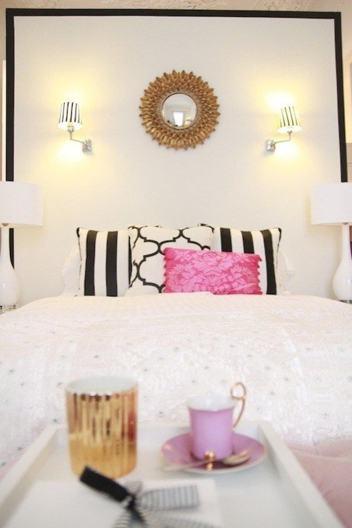Best Black And White Headboard Contemporary Bedroom Ana With Pictures