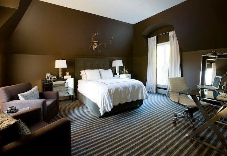 Best Chocolate Brown Bedroom Contemporary Bedroom Melanie With Pictures