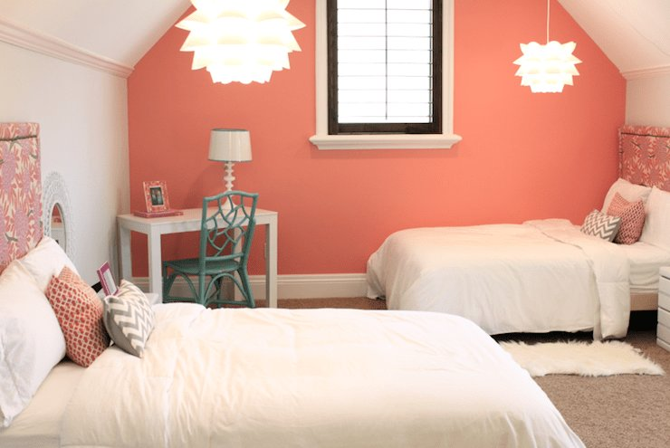 Best Coral Paint Colors Contemporary Girl S Room Benjamin Moore Coral Reef Danielle Oakey With Pictures