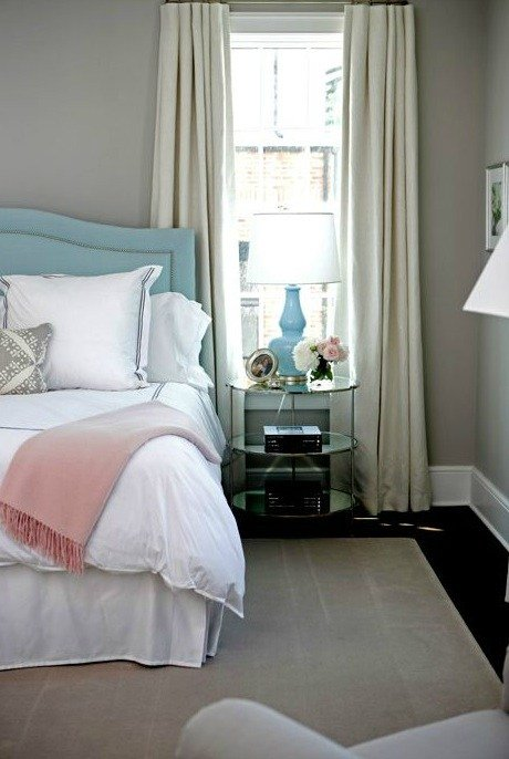 Best Turquoise Headboard Contemporary Girl S Room Sage Design With Pictures