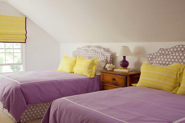 Best Purple And Yellow Girls Bedroom Cottage Girl S Room With Pictures
