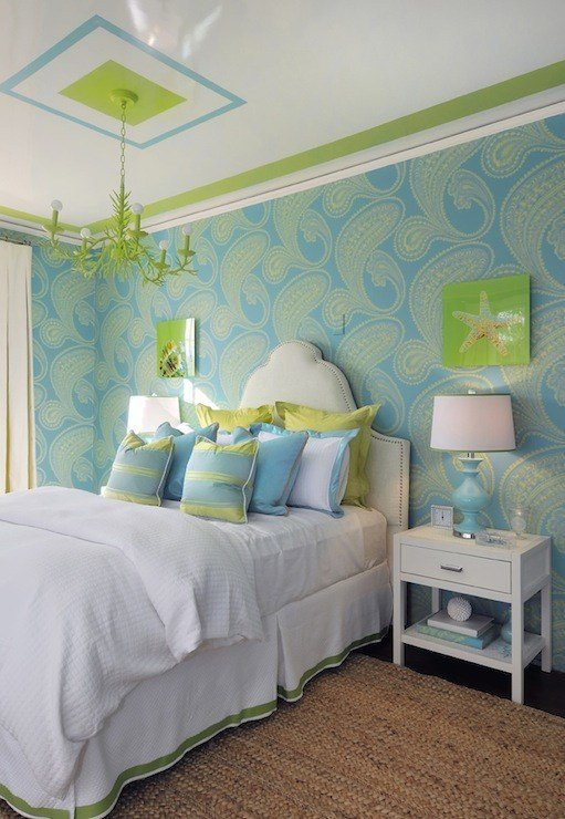 Best Turquoise And Green T**N Girl S Room Contemporary With Pictures