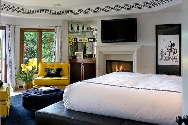 Best Black And Yellow Bedroom Eclectic Bedroom Tracy Murdock With Pictures