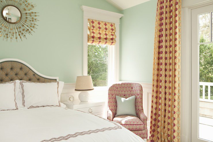 Best Seafoam Green Walls Contemporary Bedroom Thornton With Pictures
