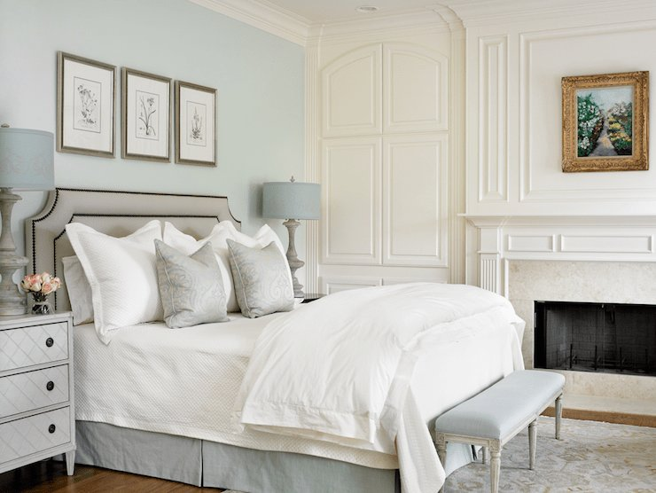 Best Blue And Gray Bedrooms Transitional Bedroom Farrow With Pictures