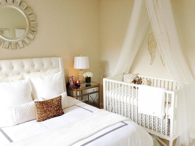 Best Master Bedroom And Nursery Combo Transitional Bedroom With Pictures