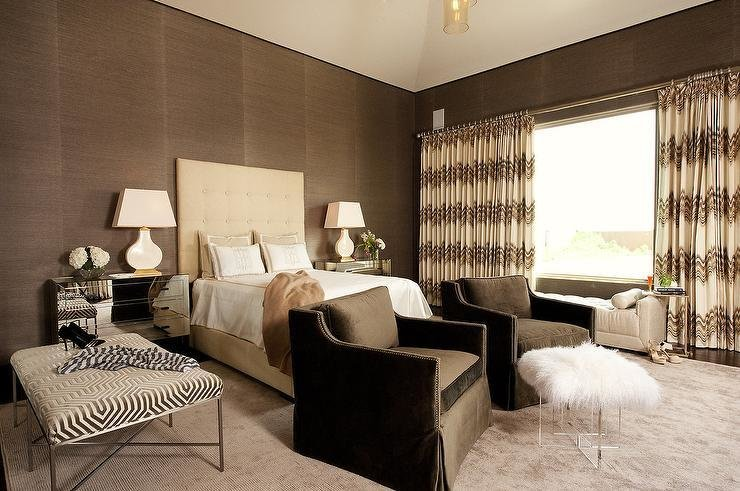 Best Cream And Brown Bedrooms Contemporary Bedroom With Pictures