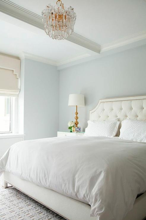 Best White Tufted Headboard With Nailhead Trim Transitional With Pictures