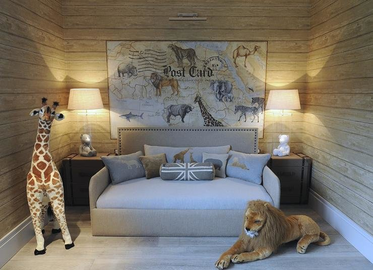 Best Safari Themed Boys Bedroom Transitional Boy S Room With Pictures
