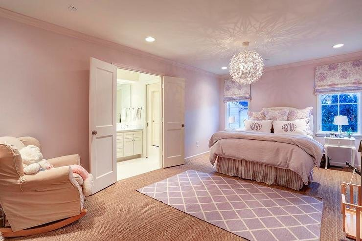 Best Pink And Purple Girl Bedroom Transitional Girl S Room With Pictures