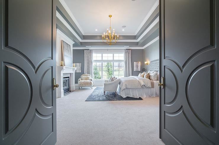 Best Gray Bedding Transitional Bedroom Jennifer Worts Design With Pictures
