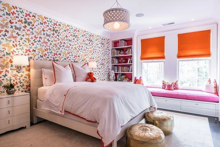 Best Pink And Orange Girl Bedroom With Lulu Dk Butterfly Multi With Pictures