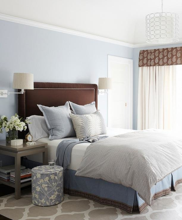 Best Brown And Blue Bedroom With Gray Nightstands And Gray With Pictures