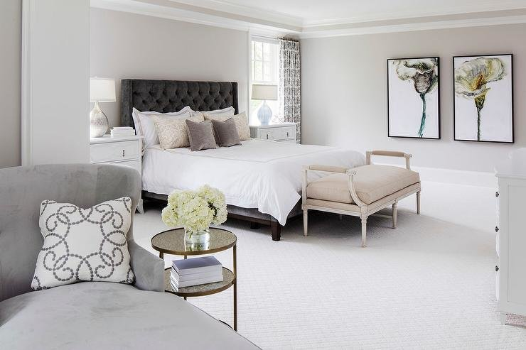 Best Gray On Gray Bedroom Design Transitional Bedroom With Pictures