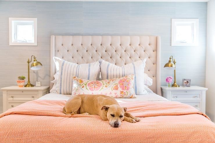 Best Cream Tufted Wingback Headboard Full Queen Target With Pictures