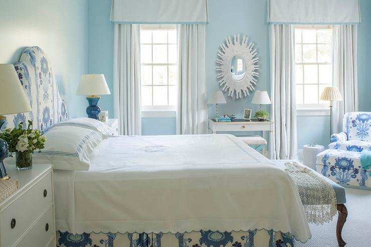 Best White And Blue Bedroom With Gray French Desk And White With Pictures
