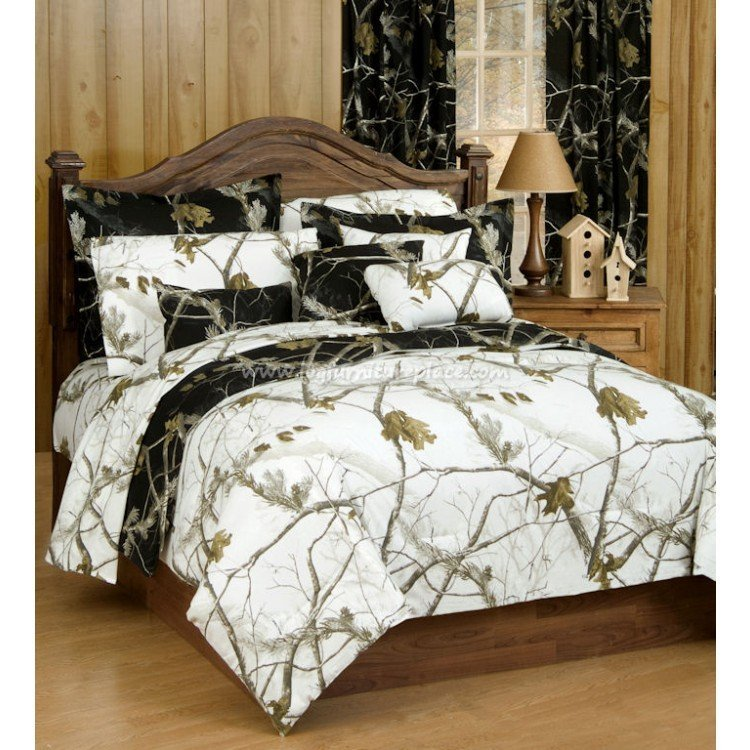 Best Ap Black Snow Bedding Decor By Realtree Rustic With Pictures