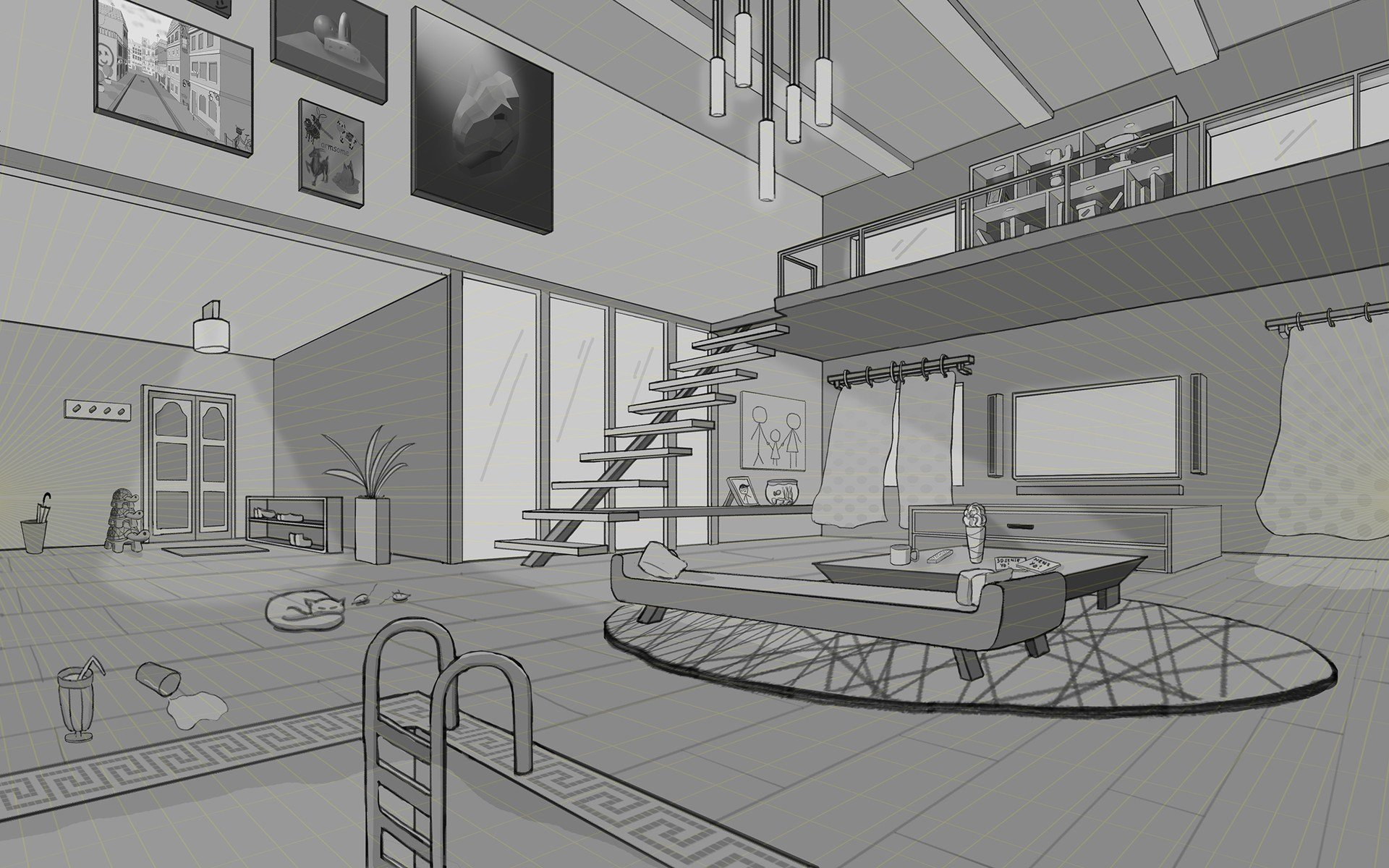 Best Artstation 2 Point Perspective Lea Jessica With Pictures