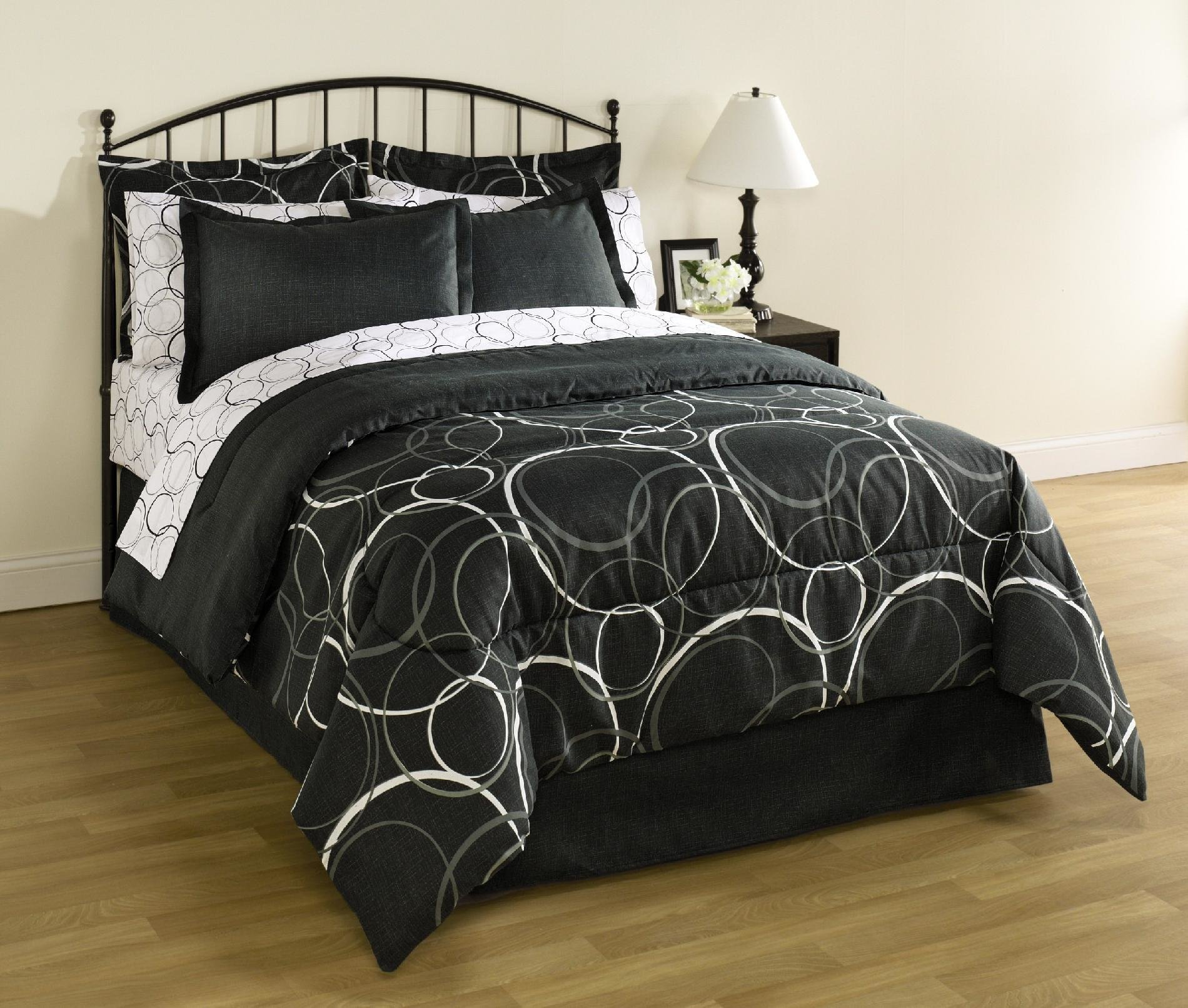 Best Essential Home Complete Bed Set Interlocking Circles With Pictures