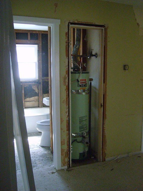 Best Water Heater W Closet Into Bathroom Flickr Photo Sharing With Pictures