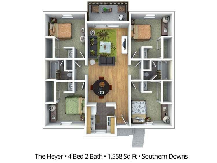 Best Statesboro Georgia Floor Plans Apartment Pricing Southern Downs With Pictures