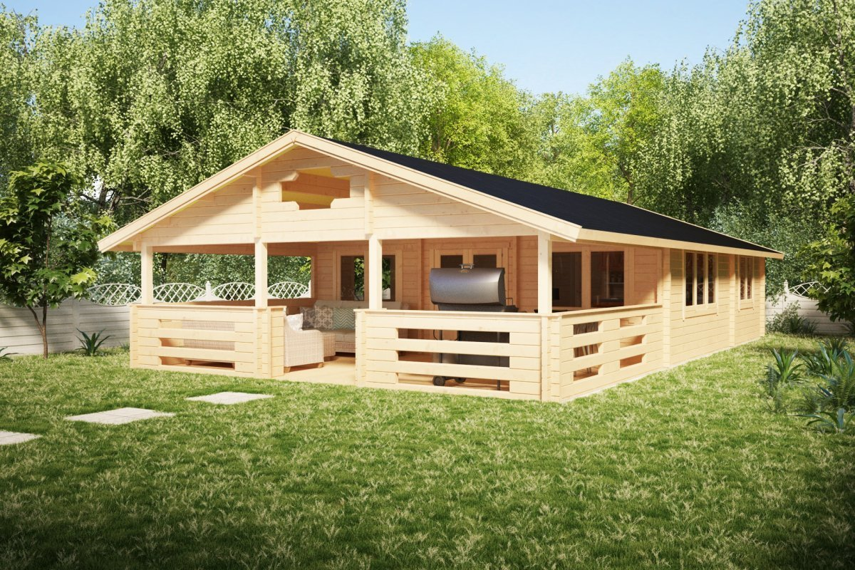 Best Two Bedroom Log Cabin Holiday F 50M2 7 X 12 M 70Mm With Pictures