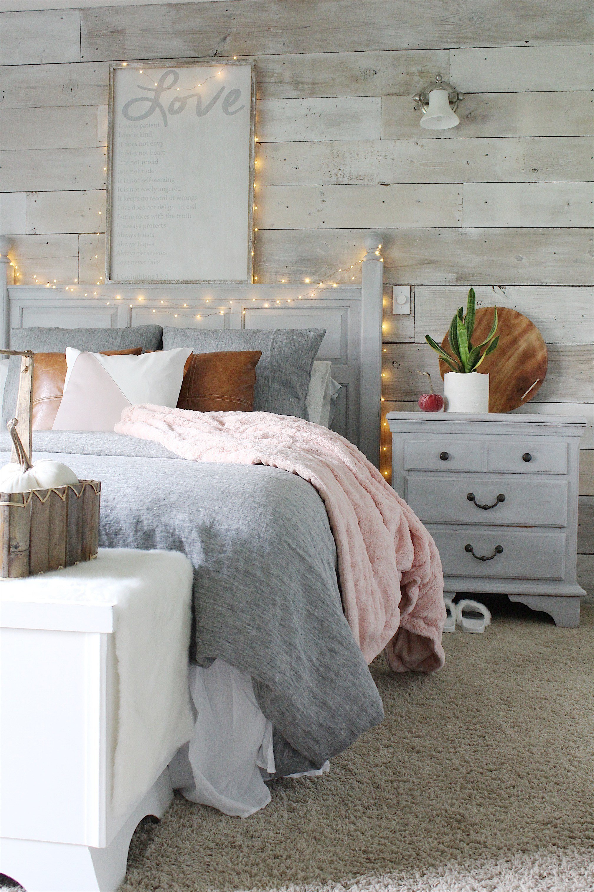 Best Cozy Bedroom Reveal And A Chalk Painted Pillow Simple With Pictures