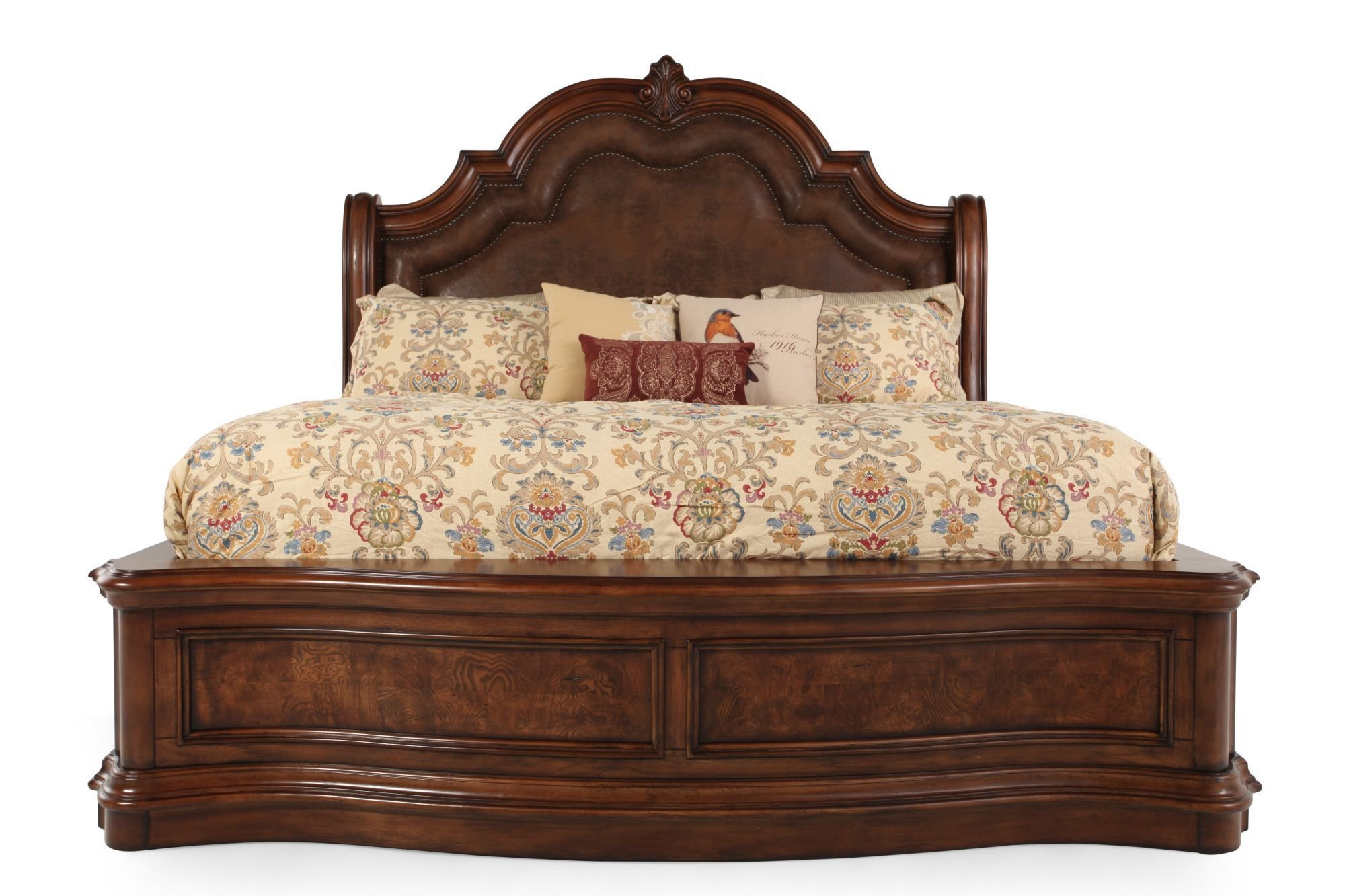 Best Pulaski San Mateo Sleigh Bed Mathis Brothers Furniture With Pictures