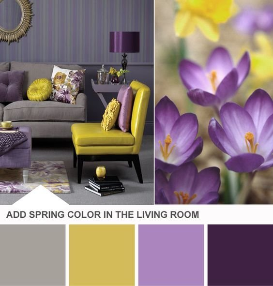 Best Purple Yellow Gray Combo Diy Home Decor Pinterest With Pictures