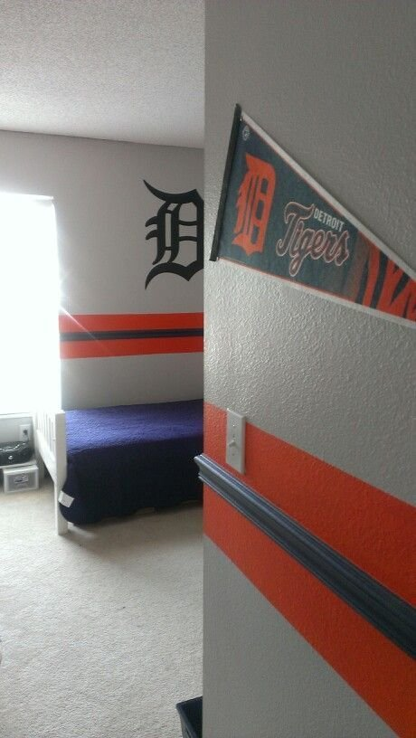 Best Lawson S Detroit Tigers Room Kids Bedroom Styles Pinterest Cas Oak Trim And Tops With Pictures
