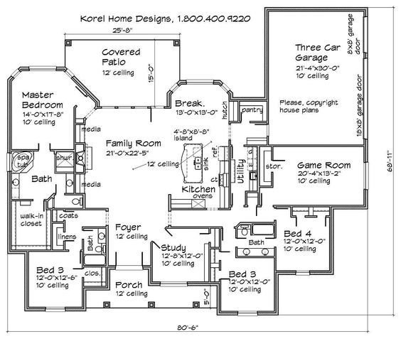 Best House Plans By Korel Home Designs Bedroom To Make Into With Pictures