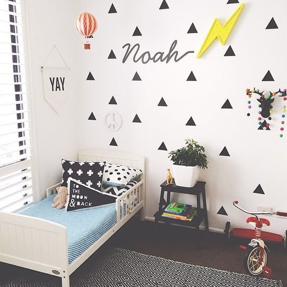 Best Adorable Kids Room With Geometric Decals Junior Pinterest Boys Girls And E Room With Pictures