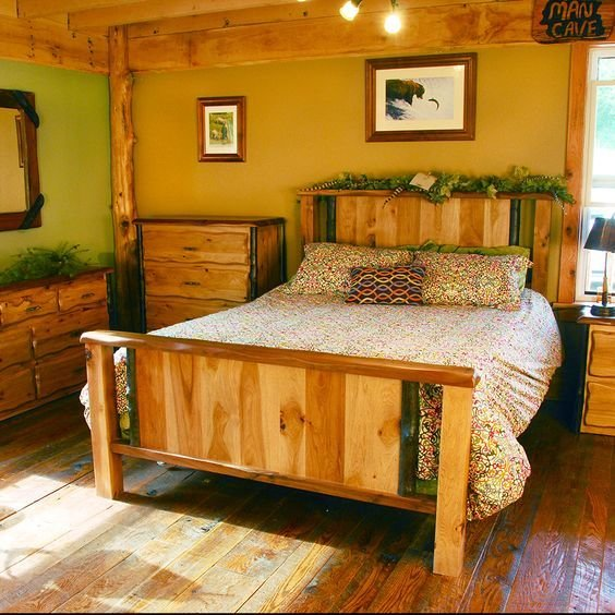 Best Lewis And Clark Rustic Walnut And Hickory Bedroom Set With Pictures