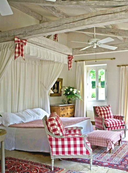Best Cottage Décor Red Cream Bedroom Country Pinterest Head Boards Chair Bows And Cream Bedrooms With Pictures