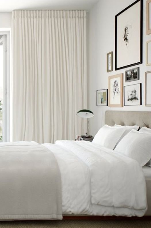 Best Master Bedroom Full To Ceiling Drapes And A Soft Neutral Color Palette A Calm Place To End With Pictures