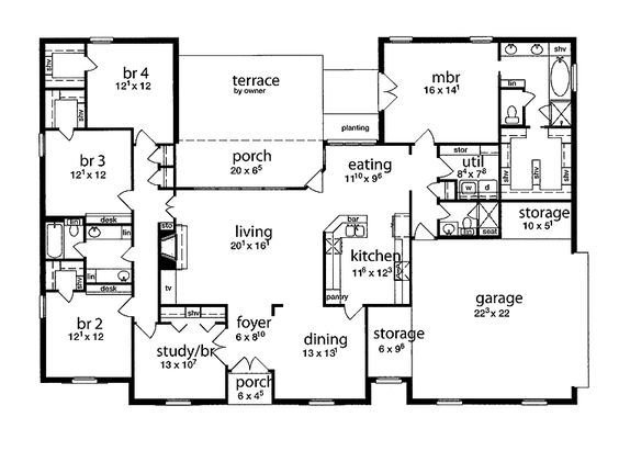Best Floor Plan 5 Bedrooms Single Story Five Bedroom Tudor With Pictures