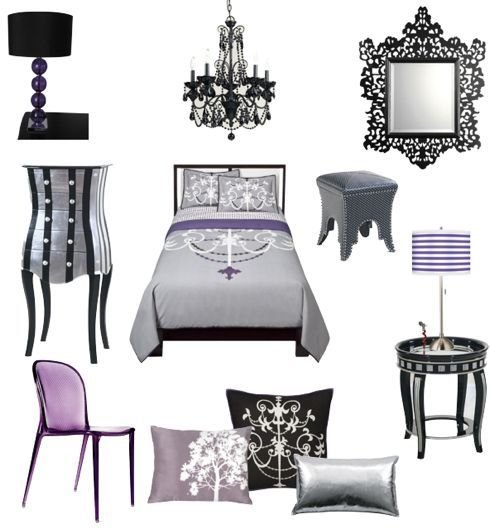 Best S*Xy Black Silver Fuschia And Purple Bedroom With Pictures