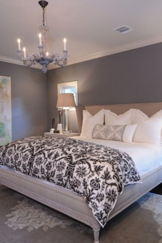 Best Grey Paint On The Walls White Bedding Clean And Simple With Pictures