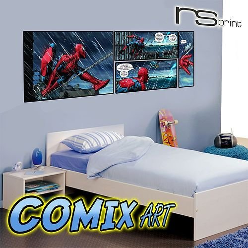 Best Kids Bedroom Wall Sticker Decal Spiderman Comic Book V Lrg With Pictures