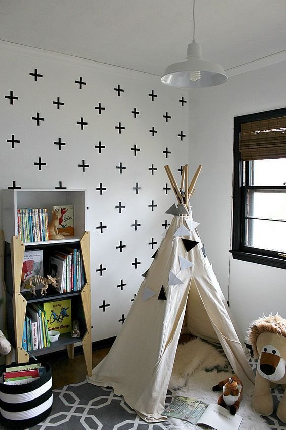 Best Diy Kid Bedroom Makeover With Diy Crosswall Teepee With Pictures
