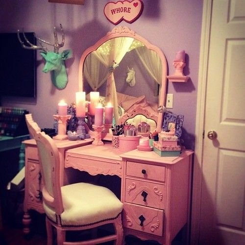 Best Pastel Goth Room And Vanity Ahhhhhhhhhh Not Sure About The Plaque But The Rest Is Pretty With Pictures