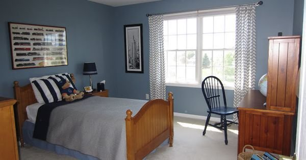 Best Blue Walls In Boys Bedroom Paint Color Amsterdam By With Pictures