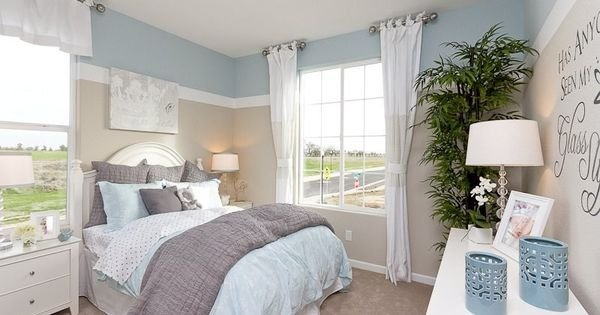 Best Tranquil Colors Define This Bedroom Plan 8 A New Home With Pictures
