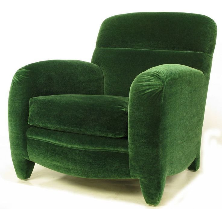 Best Angelo Donghia Art Deco Club Chair In Emerald Green Mohair With Pictures
