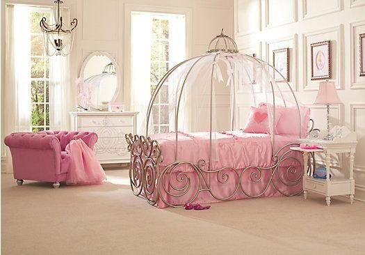 Best Shop For A Disney Princess 6 Pc Twin Carriage Bedroom At With Pictures