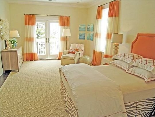 Best Cream Bedroom With Orange And Teal Pops Orange Teal With Pictures